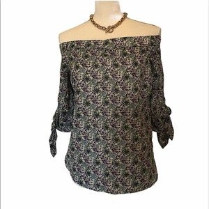 NWT Willow & Clay flower shirt size S